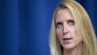 Conservative political commentator and author Ann Coulter discusses her latest book,  'Adios, America: The Left's Plan to Turn Our Country into a Third World Hellhole' on June 17, 2015 at the National Press Club in Washington, DC.      AFP PHOTO/Paul J. Richards        (Photo credit should read PAUL J. RICHARDS/AFP/Getty Images)
