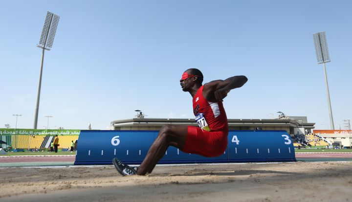 1d88a906e3 Lex Gillette of the United States competes in the men s long jump T11 final  during the