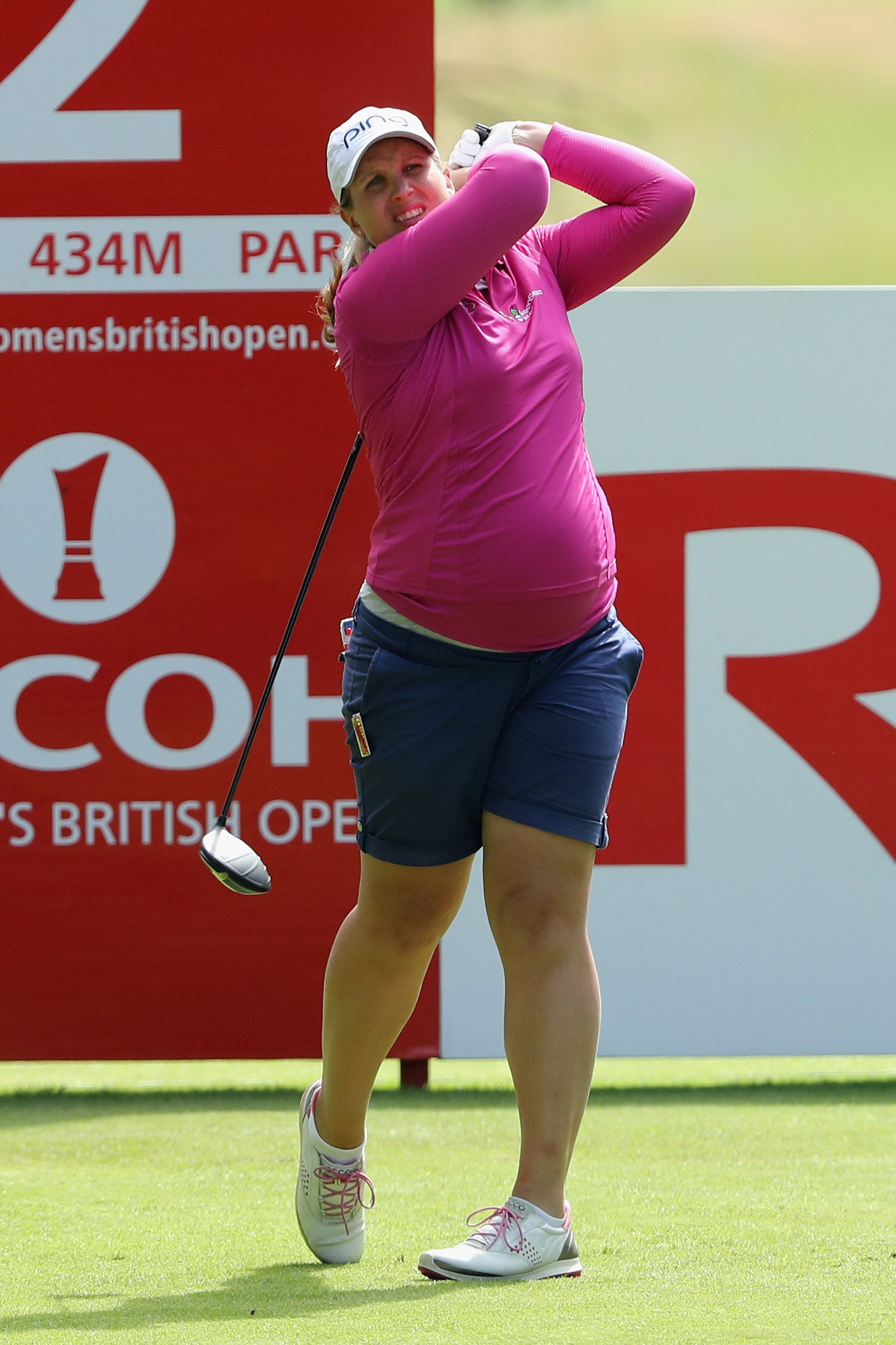 Golfer Liz Young Plays The British Open At Seven Months