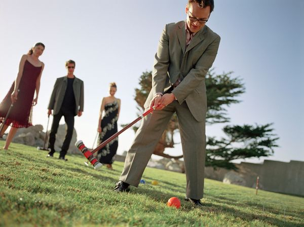 "The <a href=""http://www.bbc.co.uk/news/magazine-10775336"" target=""_blank"">sedate sport of croquet</a> appeared at the Olympic"