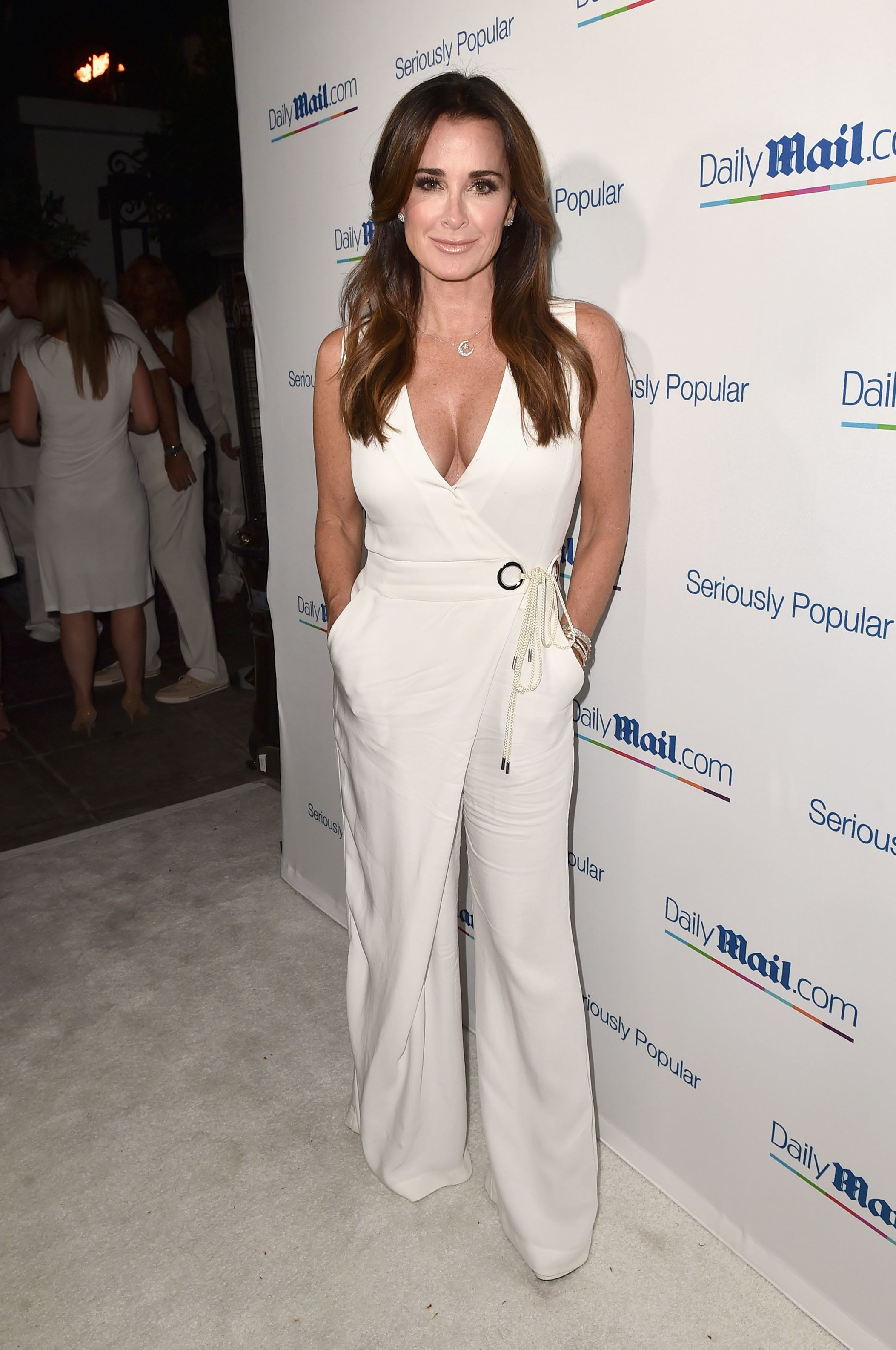 LOS ANGELES, CA - JULY 27:  TV personality Kyle Richards attends the Daily Mail Summer White Party with Lisa Vanderpump at Pump on July 27, 2016 in Los Angeles, California.  (Photo by Alberto E. Rodriguez/Getty Images for DailyMail.com)
