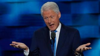 Former President Bill Clinton speaks on the second night of the Democratic National Convention in Philadelphia, Pennsylvania, U.S., July 26, 2016.      REUTERS/Mike Segar