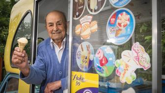 At 103, Givoanni Rozzo has become Britain's oldest ice cream man