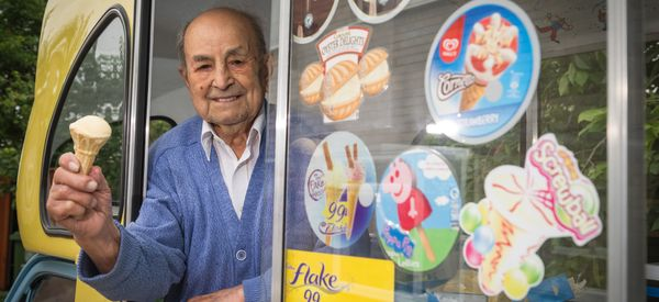 This 103-Year-Old Ice Cream Man Melts Our Hearts