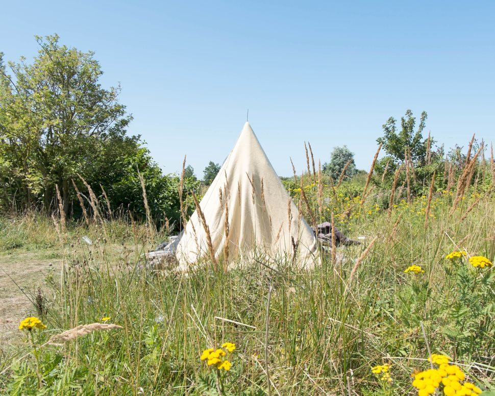 Lybian tent situated in the central part of the camp.