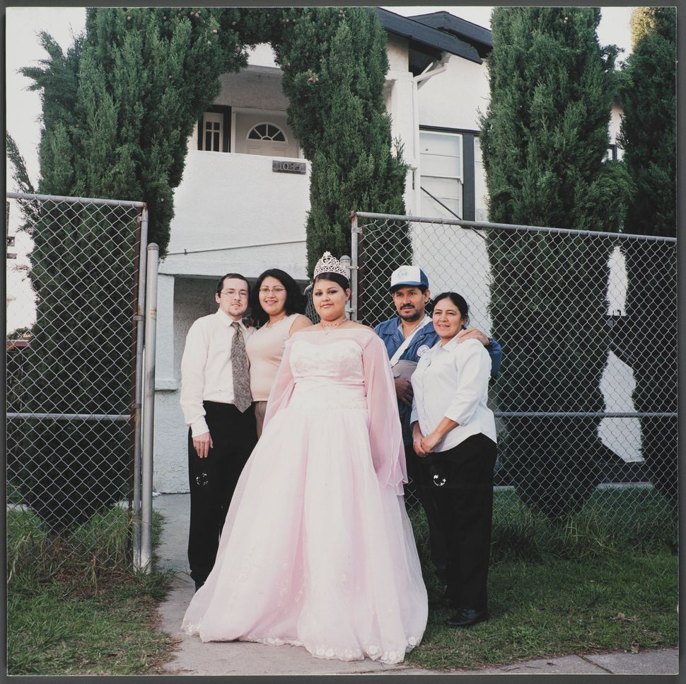 """""""1103 Chester Street,"""" 16x16 giclee print, 2003, by JuliePlacensia.The Polio Family, originally from El Salvador,"""