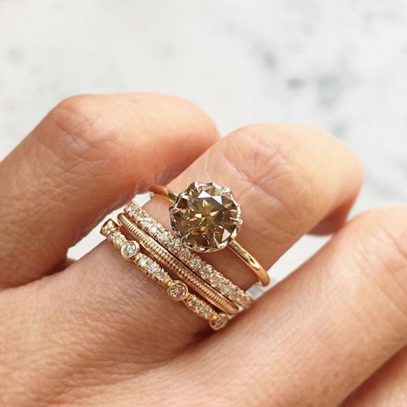 14 Stunning Stackable Ring Sets For The Modern Bride