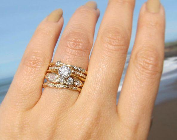 2 - Stackable Wedding Rings