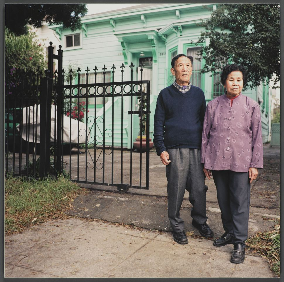 """""""1102 Chester Street,"""" 16x16 giclee print, 2003, by Julie Placensia. Ly Nhin and Phang Vong, originally from North Vietnam, p"""