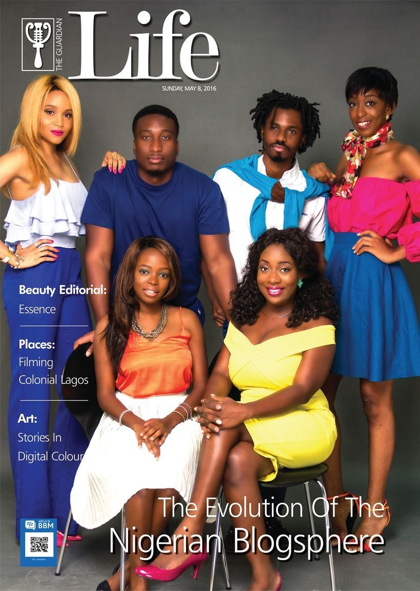 From L-R Standing:Ez of Beauty In Lagos, Nosa of EatDrinkLagos, Bankole of TechCabal, andCassie of Cassiedaves. S