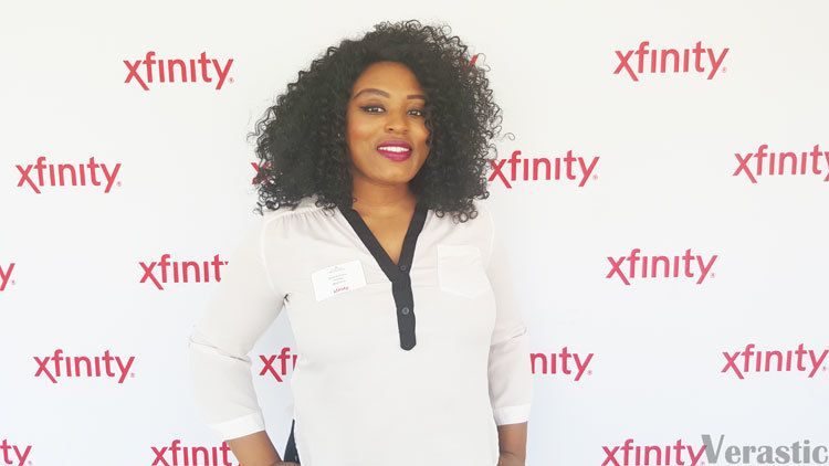 Vera at an XFINITY Moms Event hosted by Comcast in April