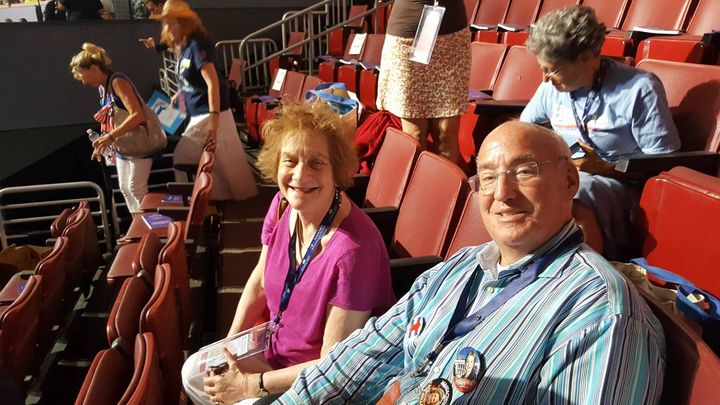 DNC Honored Guest Steve Levine with Delegate Roberta Goldman of the 2nd Worcester district