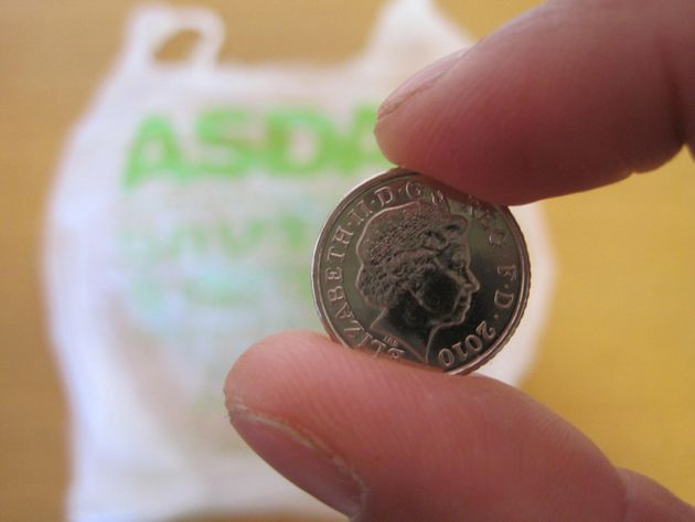 The 5p bag charge was introduced last