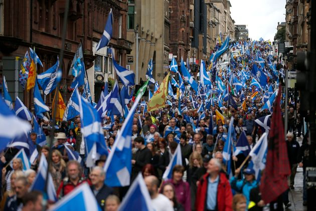 The march began in Glasgow's botanical
