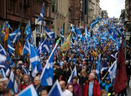 Today's Scottish Independence March Was 'Biggest Since The Referendum'