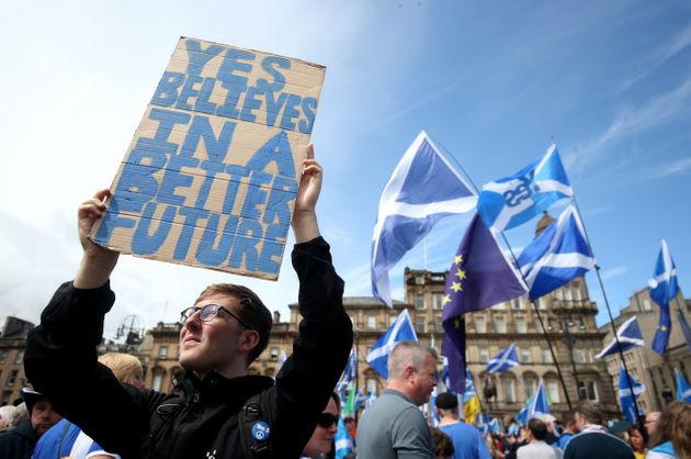 Thousands marched through the