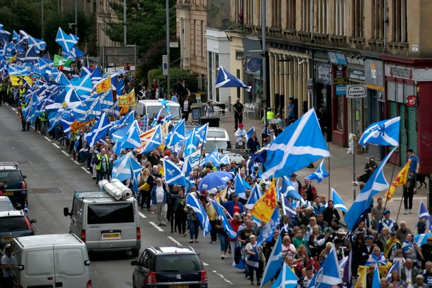 They moved through Glasgow city