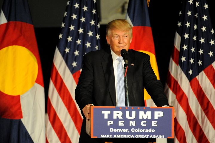 Donald Trump devoted significant time at a rally in Colorado Springs, Colorado on Friday night to denying charges that h