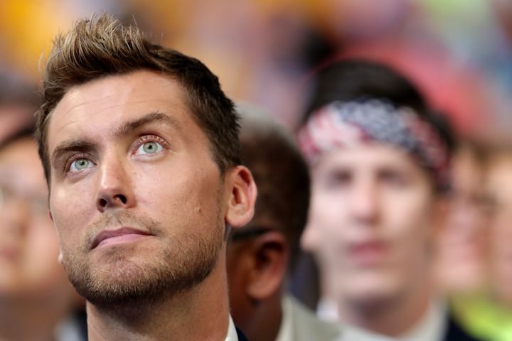 Lance Bass did attend the convention.