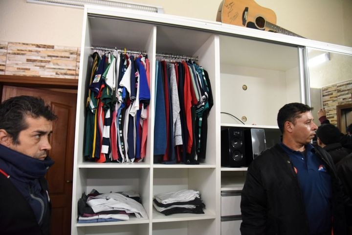 Jarvis Chimenes Pavao made sure that he kept his clothes nice and tidy.