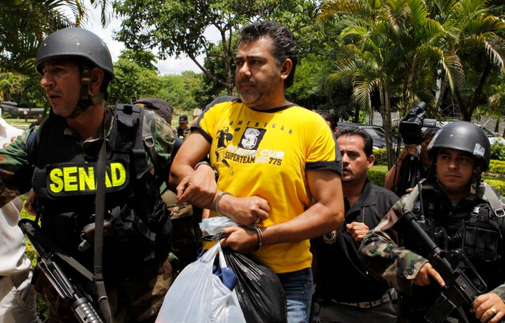 Jarvis Chimenes Pavao is pictured here shortly after being arrested in Paraguay in 2009.
