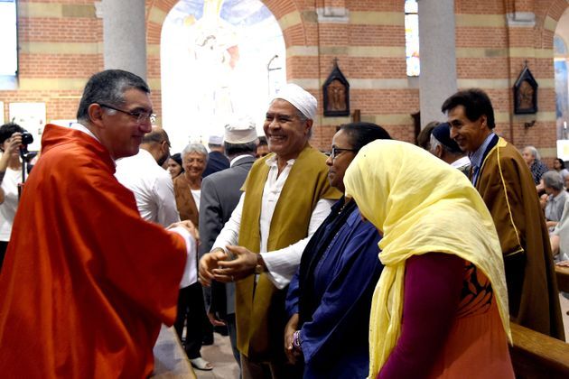 Muslims in Italy also gathered in churches across the country for Catholic Mass in a powerful display...