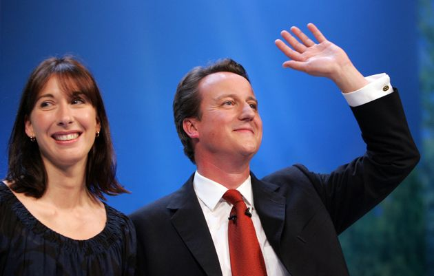 David Cameron with wifeSamantha in 2006. At the time he said: