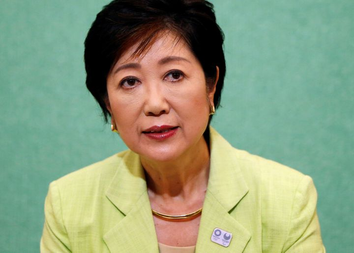 Yuriko Koike, Japan's first female defense minister, has been elected the first woman governor of Tokyo.
