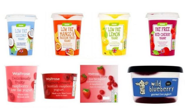 Thousands of yoghurts have been taken off the retailers'
