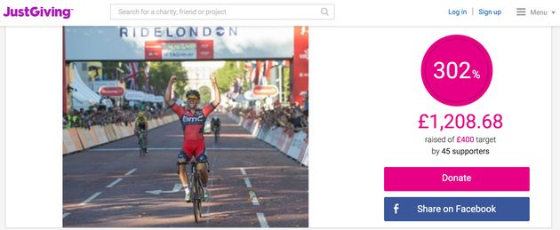 Robin Chard died during RideLondon which he was competing in to raise money for Cancer Research