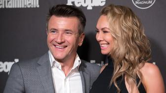 NEW YORK, NY - MAY 16:  Robert Herjavec (L) and Kym Johnson attend the 2016 Entertainment Weekly & People New York Upfront at Cedar Lake on May 16, 2016 in New York, New York.  (Photo by Mike Pont/WireImage)