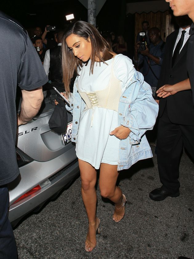 Kim Kardashian West Can't Stop, Won't Stop Wearing Corsets Over Her