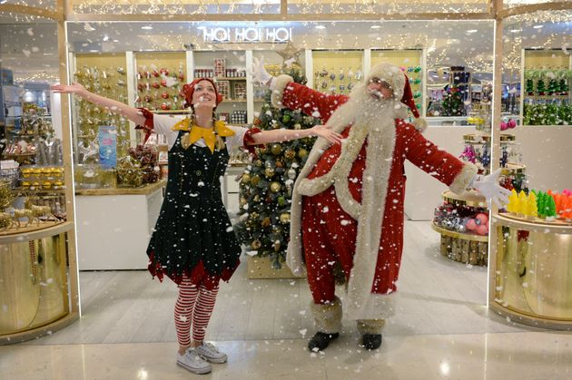 Selfridges has opened its Christmas shop at its flagship store in Oxford Street - 141 shopping days before