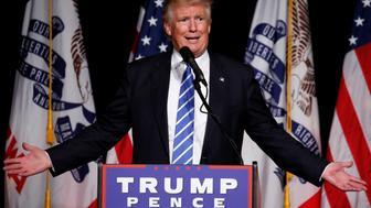 Republican presidential nominee Donald Trump speaks during a campaign rally in Cedar Rapids, Iowa, U.S., July 28, 2016.  REUTERS/Carlo Allegri