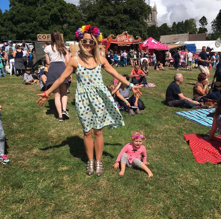Zoe De Pass channelling Dress Like A Mum At A Festival at Camp Bestival.