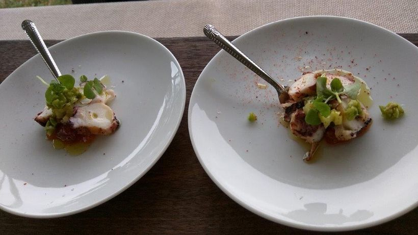 Grilled octopus rounds from Stone Creek Inn