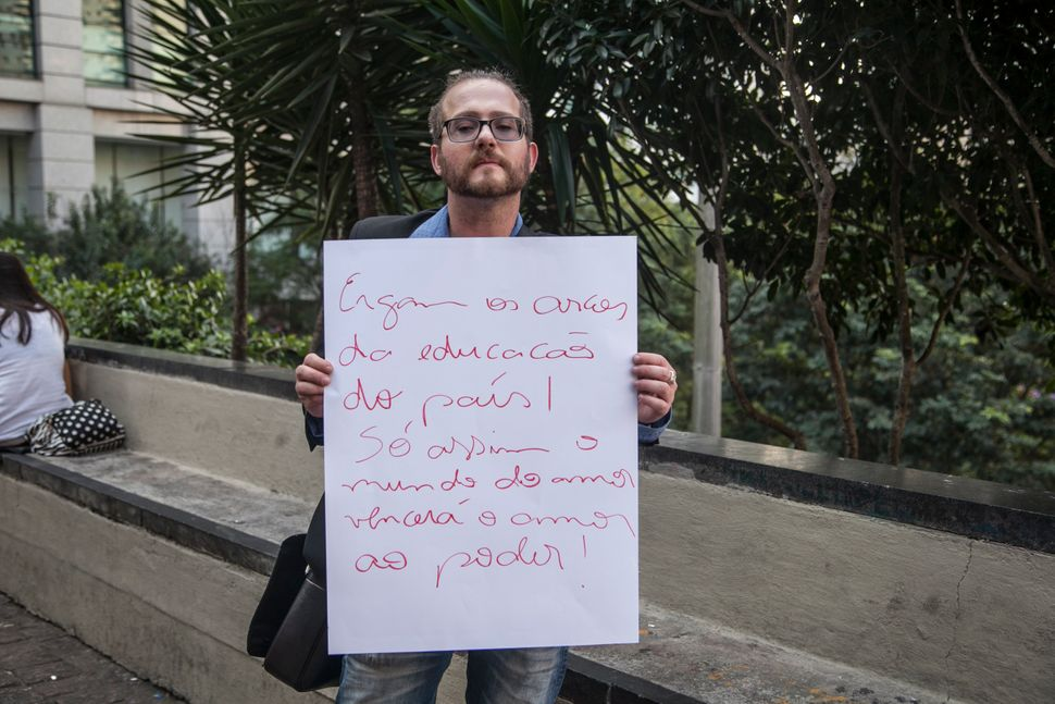 """<strong><i>Gilmar Melo Jr., teacher and salesman</i></strong><br><br>""""We should strengthen the cultural and educational secto"""