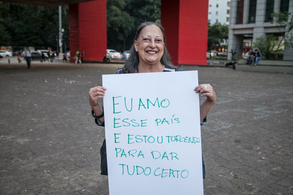 """<strong><i>Ana L&uacute;cia Junqueira, teacher</i></strong><br><br>""""I hope that everything works out fine. I am a little asha"""