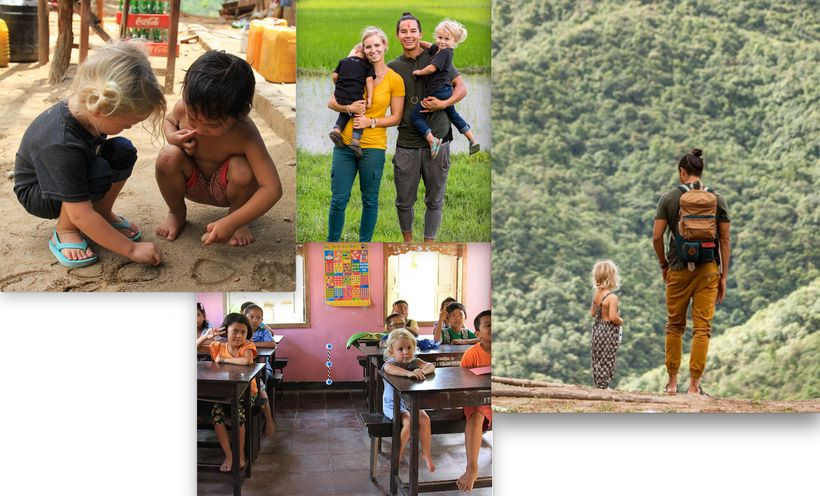 The Bucket List Family visiting Nepal.Follow their story (and the message behind these images) on their Instagram.
