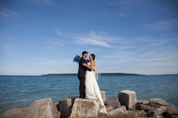 """""""Congratulations to Cassandra and Jeremiah, who got married this weekend in Wiarton, Ontario."""" --<i>Eve Traetto</i>"""