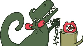 Using a land line.