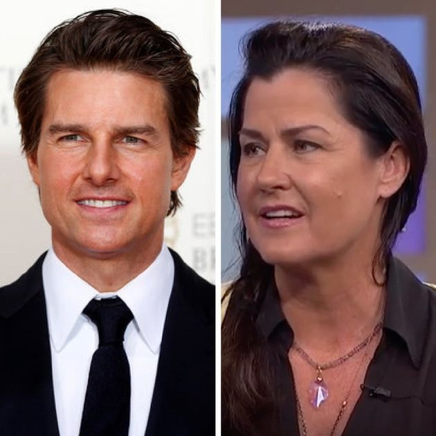 (L) Tom Cruise and actress Cathy