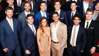 THE BACHELORETTE - JoJo Fletcher first stole America's heart on Ben Higgins season of 'The Bachelor,' where she charmed both Ben and Bachelor Nation with her bubbly personality and sweet, girl-next-door wit and spunk. JoJo embarks on her own journey to find love when she stars in the 12th edition of 'The Bachelorette,' which premieres on MONDAY, MAY 23 on the ABC Television Network. (Photo by Craig Sjodin/ABC via Getty Images) (FRONT ROW) NICK B., CHRISTIAN, JAMES T., ALEX, JOJO FLETCHER, PETE, ALI, LUKE, JOHN, DANIEL; (MIDDLE ROW) GRANT, COLEY, SAL, ROBBY, JAMES S., JORDAN, WELLS, EVAN, CHASE; (BACK ROW) JAMES F., VINCENT, JAKE, DEREK, BRANDON, CHAD, NICK S., WILL