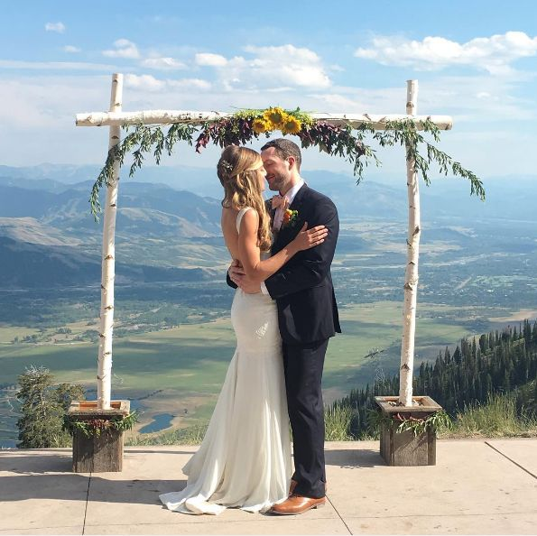 """Congratulations toKellyand Shane! We had sun, rain, hail, thunder and lightning on their wedding day yesterday t"