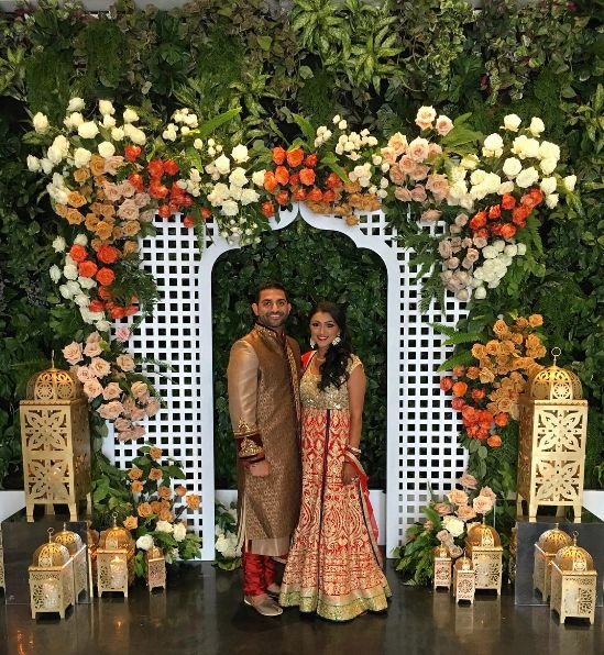 """""""Kicked off night one for our sweet couplewith a modern Moroccan themed Sangeet."""" -- <i><a href=""""http://bluelotusinsigh"""