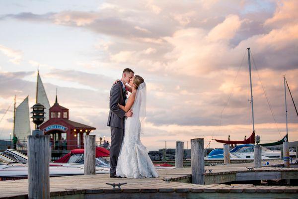"""Briana and David were married in Watkins Glen, New York on the shore of Seneca Lake."" --<i>Molly Cagwin</i>"