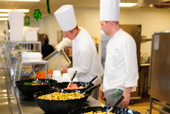 Chefs can work with schools to reduce food waste