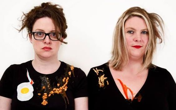 Ellie Gibson (L) and Helen Thorn