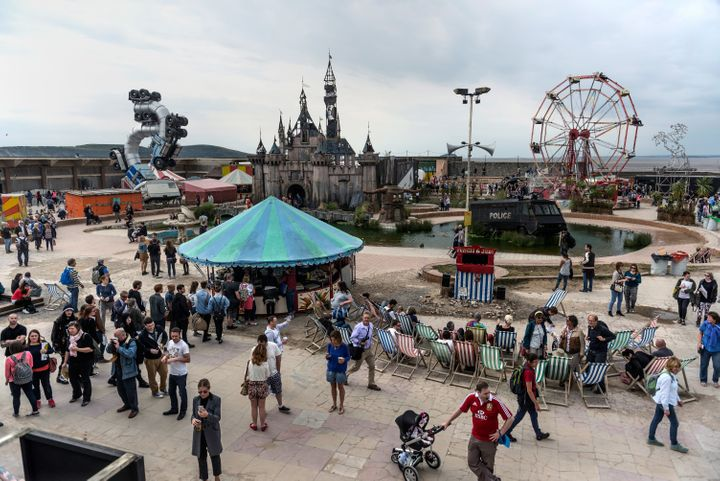 The site of Banksy's Dismaland