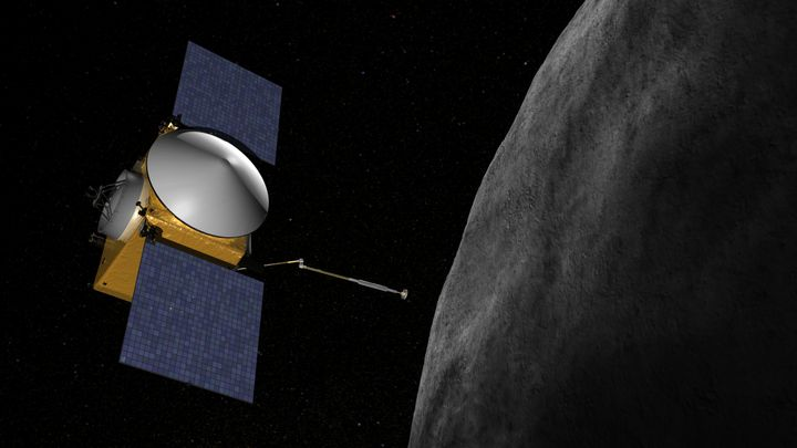 Artist's impression of OSIRIS-REx spacecraft.
